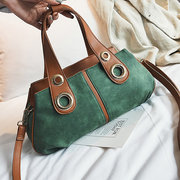 Women Leisure PU Leather Crossbody Bag Double Layer Handbag