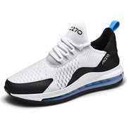 Large Size Sneakers Air Cushion Running Shoes Men's Breathable Increase Casual Small White Shoes Max Student Sports Shoes