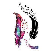 DIY Hollow Feather Tatuagens impermeáveis ​​para tatuagem Scar Cover Paste Temporary Tattoos