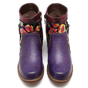 SOCOFY Cowgirl Stiefelette