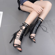 Hollow Cross Band Stiletto Pumps