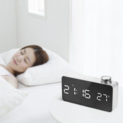 Digital LED Mirror Alarm Clock 12H/24H Display  Adjustable Luminance Snooze Function