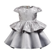 Flower Girls Sleeveless Party Pageant Princess Dress + Headband For 1Y-9Y