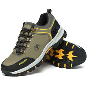 Men Wearable Lace Up Outdoor Hiking Climbing Shoes