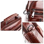 Vintage Genuine Leather Business Multi-pocket Handbag Crossbody Bag For Men