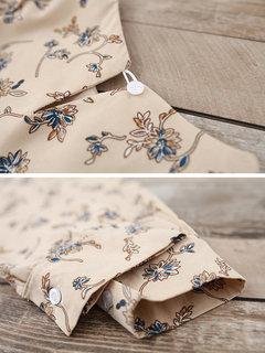 Vestidos florales de manga larga con estampado floral vintage para mujer
