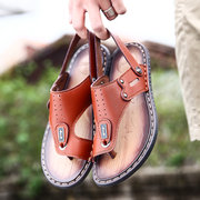 Men Microfiber Leather Clip Toe Soft Water Friendly Sandals