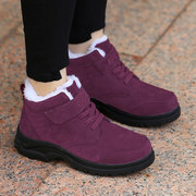 Womens Hook Loop Warm Lining Casual Plush Winter Ankle Boots