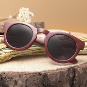 Women Fashion HD UV400 Sunglasses Vintage Wood Sunglasses Outdoor Travel Sunglasses