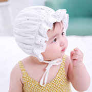 Newborn Baby Summer Lace Hats Baby Flower Children Ruffles Caps For 0-12M