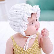 Новорожденный ребенок летние кружевные шапки детские цветочные дети оборками шапки для 0-12 м