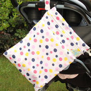 Waterproof Zipper Double Pocket Baby Diaper Storage Bag Washable Cloth Diaper Wet and Dry Bags