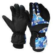 Men Waterproof Windproof Outdoor Ski Anti-slip Gloves Thick Warm Shock Absorber Sport Gloves
