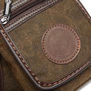 Vintage Canvas Leg Bag Casual Solid Waist Bag Multi Pocket Crossbody Bag For Men