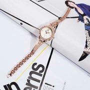 SOXY Luxury Watch Simple Alloy Rose Gold Rhinestone Women Watch