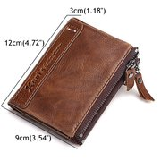 Genuine Leather Vintage Men Women Card Holder Purse Wallet
