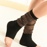 Women Retro Transparent Gold And Silver Heap Socks Casual Fishing Net Stockings