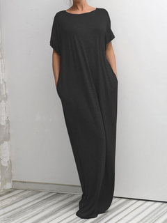 Vestido Bownot Backless Crew Neck Maxi
