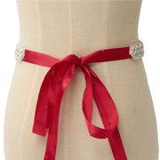 العروس حبة حجر الراين الشريط وشاح حزام الماس كريستال الزفاف اللباس الرسمي الملحقات