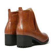 Stacked Heel Ankle Vintage Boots