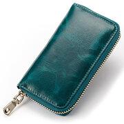Porte-monnaie pour hommes et femmes en cuir véritable solide 6 clés