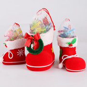 Christmas Decorations Children Gift Candy Boots Christmas Decorations Small Gift Bag Festival Stock