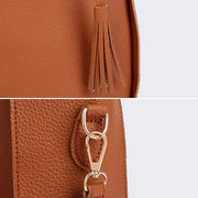 4 PCS Women PU Leather Handbag Tassel Leisure Crossbody Bag Solid Shoulder Bag