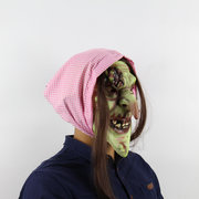 Old Witch Dance Props Horror Latex Mask Halloween Carnival Masquerade Zombie Mask