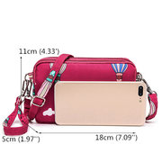 Women Nylon Waterproof Multi-Pocket Crossbody Bags Print Travel Clutch Bags