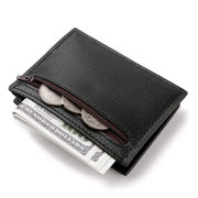 PU 7 Card Slot Casual Wallet Business Coin Bag Purse For Men