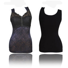 Women Sexy Embroidered Thicken Thermal Underwear Soft Breathable Body Shaper Vest Shapewear