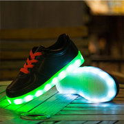 Unisex Children LED Light Lace Up Casual Sneakers