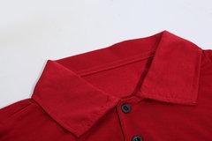 Para hombres de moda ciervo estampado polo camisa de solapa de largas mangas de primavera de otoño casual camiseta