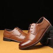 Homens Cap Toe Couro Antiderrapante Tamanho Grande Casual Sapatos Formais
