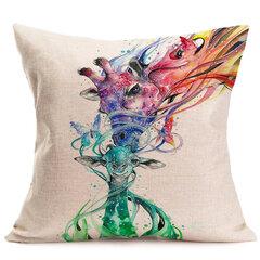 16 stili animali dell'acquerello stampa cuscino federa casa divano arredamento