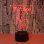 Unicorn 3D Acrylic Lamp USB 7-Color Changing LED Illusion Touch Switch Night Light Desk Table Gift
