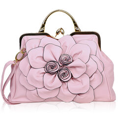 Rose Flower Women Handbag Cosmetic Bag