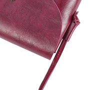 Women Pure Color PU Leather Shoulder Bags Crossbody Bags