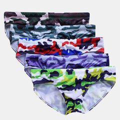 Hommes Sexy Camo Impression Swimwears Drawstring Smooth Pad détachable Slip de bain