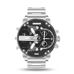 Working Little Dials Waterproof Quartz Watch Unique Design Full Steel Men Wrist Watch