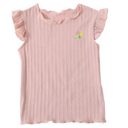 Butterfly Embroidery Toddlers Girls Kids Summer Cotton Sleeveless Tops