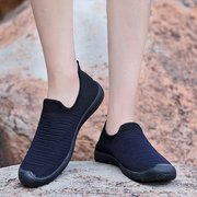 Men Knitted Fabric Super Breathable Soft Sole Sports Casual Sneakers