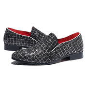 Large Size Men Stylish Leather Non-slip Slip On Casual Formal Shoes