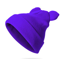 Women Mickey Knitted Solid Skullies Beanie Cap Ear Protection Windproof Warm Hat Cute Cap