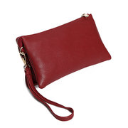 Three-layers PU Leather Pure Color Shoulder Bags Crossbody Bags Clutch Phone Bag