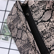 Snake Pattern Waist Bag Leopard Print Crossbody Bag For Women