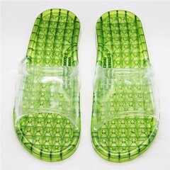 Bathroom Slip On Massage Crystal Peep Toe Flat Waterproof Indoor Home Shoes