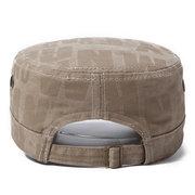 Männer mit breiter Krempe, flacher Kappe, atmungsaktiv, einstellbar gewaschener Baumwolle, Retro-Farbe, Sonne Hut