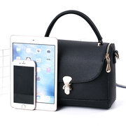Women Concise Buckle Small Square Crossbody Bags Solid Handbags