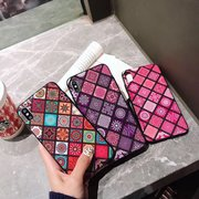 Women Vogue Colored Rhombic Acrylic Phone Case Back Cover Anti-fall For iPhone